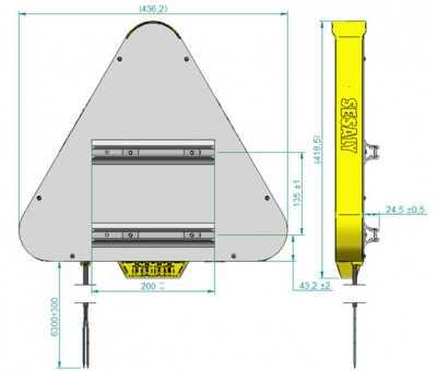 Triangle TriFlash LED adhésif SESALY