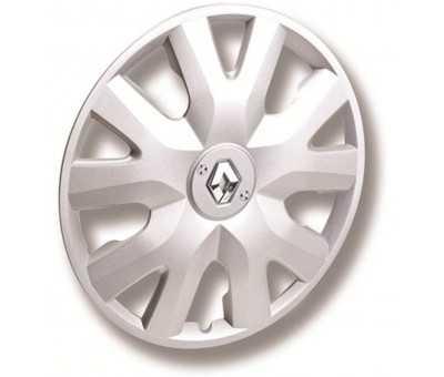 Enjoliveur sécurisé gradiant look carbone 15 pouces avec logo Renault